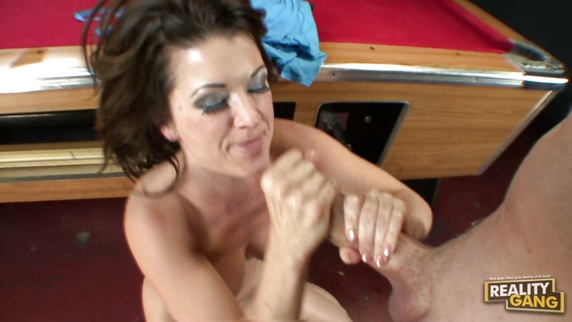 Rockin momma Raquel Devine receives a hot load of cock jizz on her sweet face