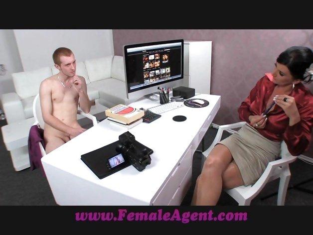 image Femaleagent cock sucking skills displayed as agents double u