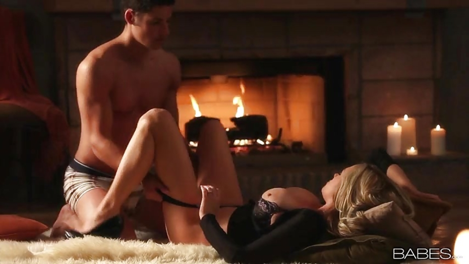 Victoria Blaze Pussy Fucked By The Fireplace