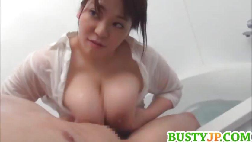 Asian boob wank