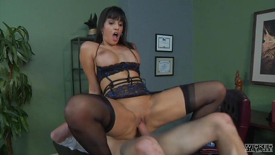 Asian girl spreading legs in sex panties