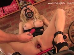 Blonde plays filthy squash game masturbating veg to orgasm - 1 part 5