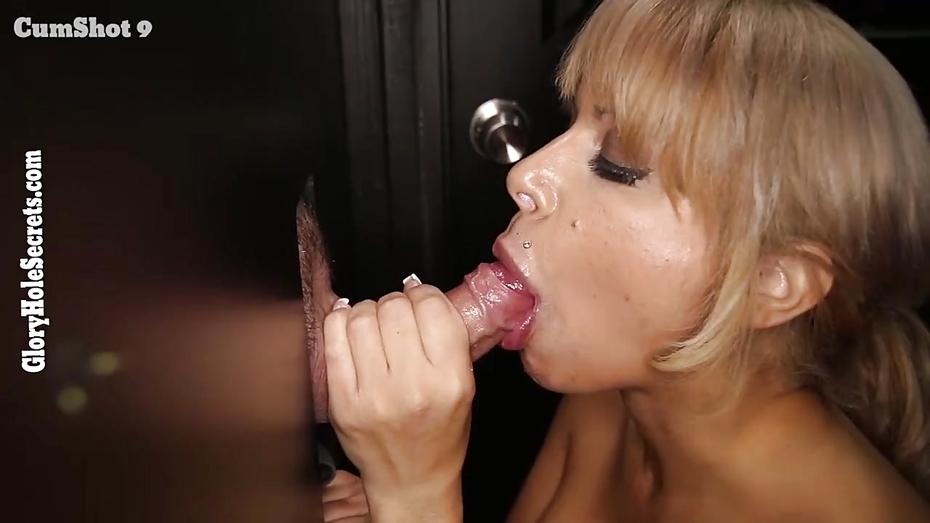Seductive brunette girl masturbating in her kitchen