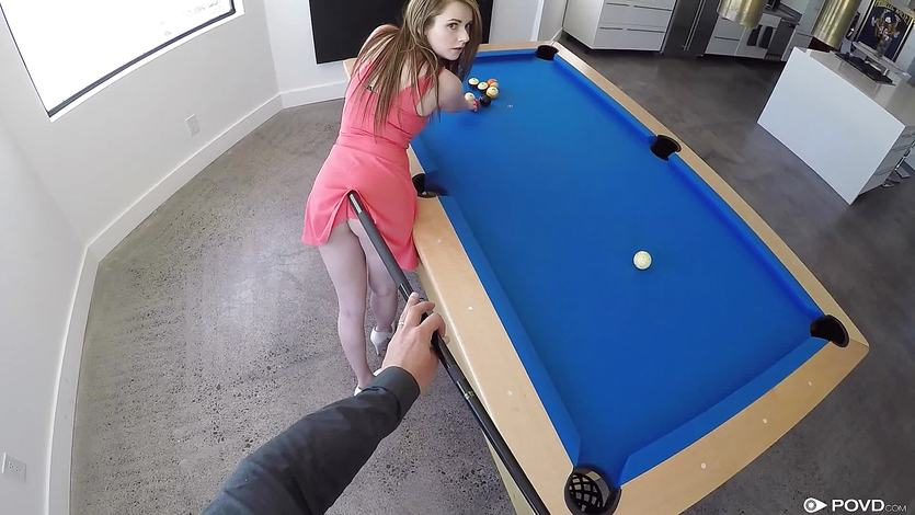 Anal in pool ball