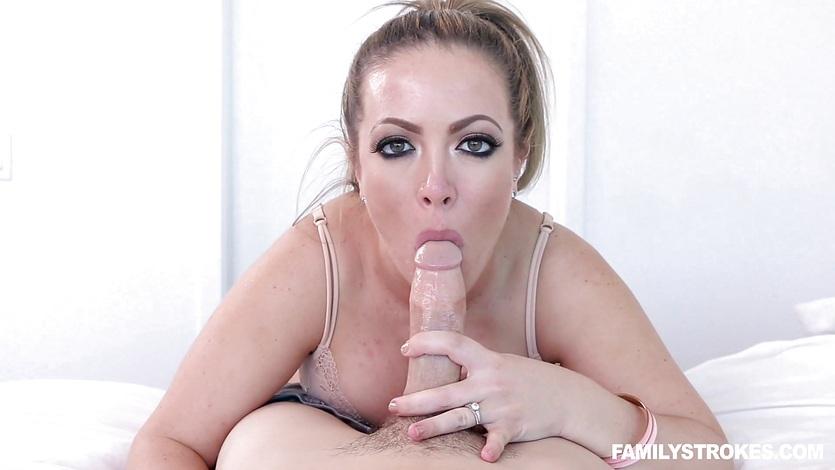 Cock loving blonde Carmen Valentina