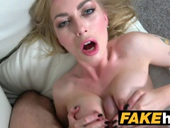 Kinky Blonde Big Tits Russian gets a Facial