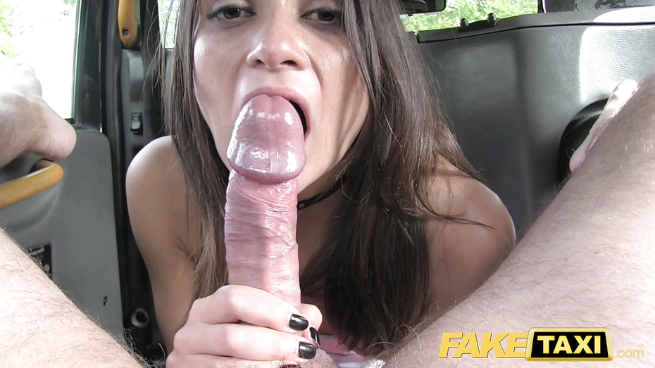 Busty Latina Whore Sucking Cock Inside The Car