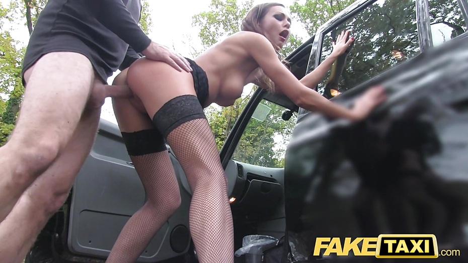Female fake taxi redheads tongue makes pretty posh pussy cum