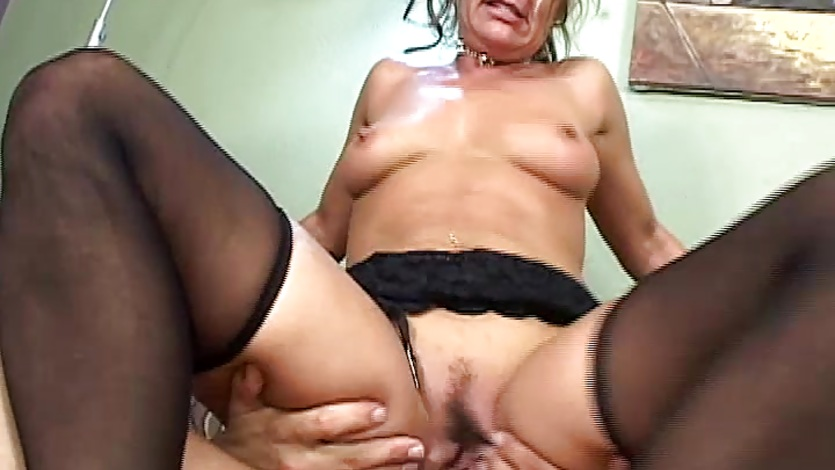Mama releases tension fucking a young cock 10